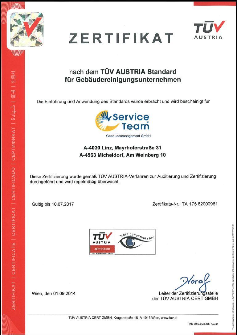 Qualitätssiegel TÜV Austria